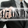 Twenty four seven online — Stock Photo