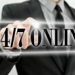 Twenty four seven online — Stock Photo
