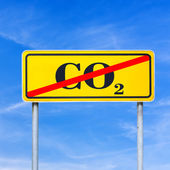 Stop CO2 emissions — Stock Photo