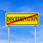 Stop discrimination — Stock Photo