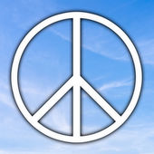 Peace sign — Stock Photo