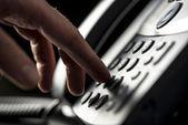 Man making a telepnone call — Stock Photo
