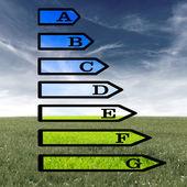 European energy rating certificate — Stock Photo
