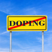 Doping forbidden — Stock Photo