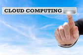 Cloud computing written in a navigation bar — Stock Photo