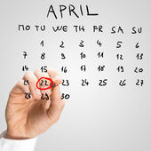 The date of April 22, International Earth Day — Stock Photo