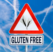 Gluten Free traffic sign — Stock Photo
