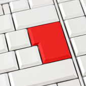 Red button on keyboard — Stock Photo