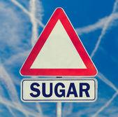 Sugar danger warning sign — Stock Photo