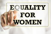 Equality For Woman sign on a virtual screen — Stock Photo
