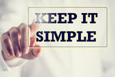 Keep It Simple on a virtual screen — 图库照片