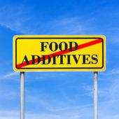 Food additives prohibited — Stock Photo