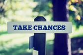 Take chances — Stock Photo