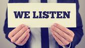 We listen — Stock Photo