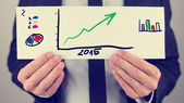 Business financial plan for 2015 — Stock Photo