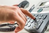 Making a phone call — Stockfoto