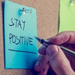 Stay positive — Stock Photo