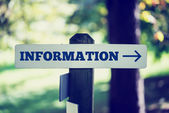 Information signboard — Stock Photo