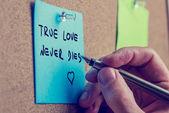 Prawdziwa miłość nigdy nie umiera — Zdjęcie stockowe