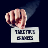 Take Your Chances — Stock Photo