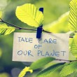 Take Care of our Planet — Stock Photo #50085939