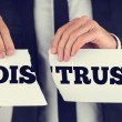 Distrust - trust — Stock Photo #50087979