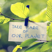 Take Care of our Planet — 图库照片