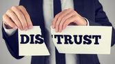 Desconfianza - la confianza — Foto de Stock