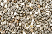 Background closeup of dried chia seeds — Stock Photo