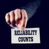 Reliability counts — Stock Photo