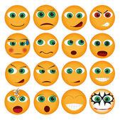 Set of smiles — Stock Vector