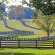 Stock Photo: Fences Bordering Appomattox, VirginiFarm