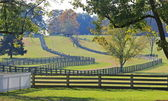 Fences Bordering Appomattox, Virginia Farm — Stock Photo