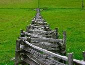 Stacked Split-Rail Fence In Rural Virginia — Stock Photo
