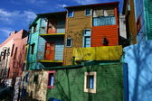 Brightly Painted Buildings in Buenos Aires Tourist Area — Stock Photo