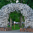 Antler Arch In Jackson Hole, Wyoming — Stock Photo