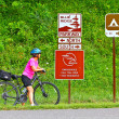 Female Bicyclist On Blue Ridge Parkway — Stock Photo #12963636