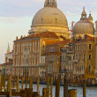 Dome of Santa Maria della Salute Above the Grand Canal — Stock Photo #18489701