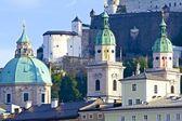 Salzburg Church Domes — Stock Photo
