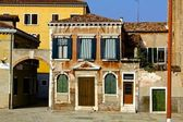 Unique and Colorful Venetian House — Stock Photo