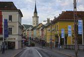 Colorful Entrance to Villach, Austria — Stock Photo