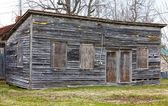 Close-Up of Old Wooden Building — Stock Photo