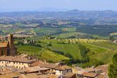 Tuscan Landscape, San Gimignano, Italy — Stock Photo