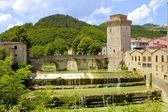 Ancient Arched Bridge and Tower — Stock Photo