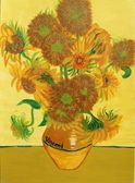 Hand Painted Sunflower Image — 图库照片