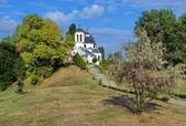 Igreja no jardim — Foto Stock