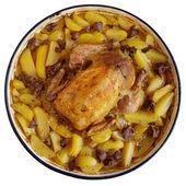 Pieczony kurczak z ziemniakami — Zdjęcie stockowe