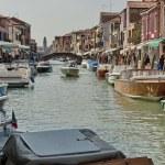 Постер, плакат: Water street canal in Murano island Venice Italy