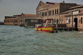 Murano island glas workshop - view from the lagoon, Venice, Italy. — Stock Photo