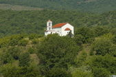 Monastery church in nord Greece — Stock Photo